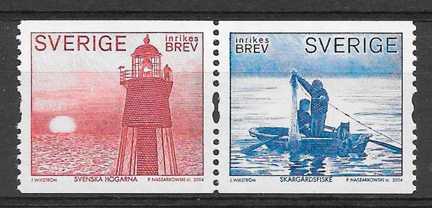 sellos faros Suecia 2004