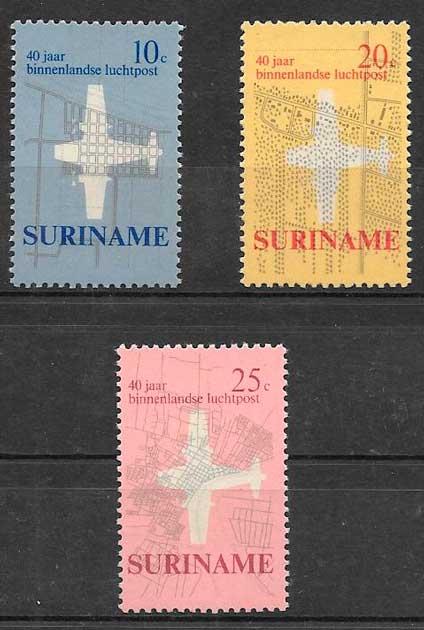 filatelia transporte Surinam 1970
