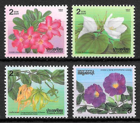 sellos flora Tailandia 1995