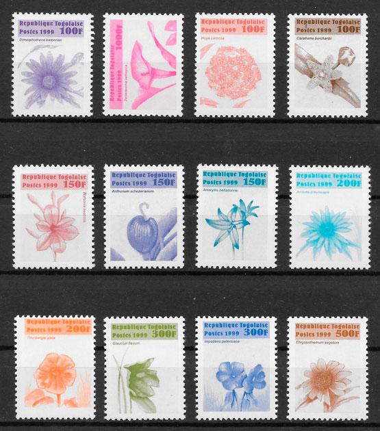 filatelia colección flora Togo 1999