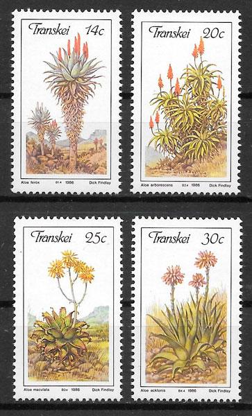 filatelia colección flora Transkei 1986