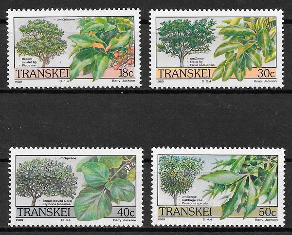 filatelia flora Transkei 1989