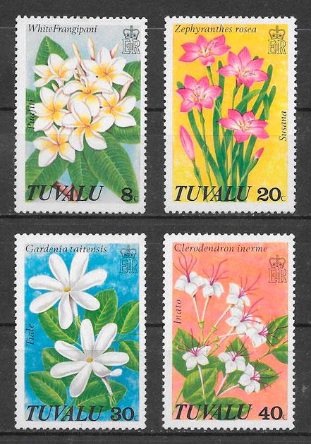 filatelia colección flora Tuvalu 1978