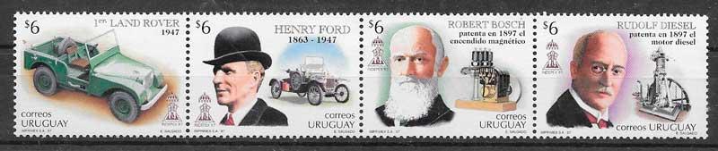 filatelia colección transporte Uruguay 1997