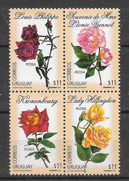 Filatelia Sellos rosas del país 2001