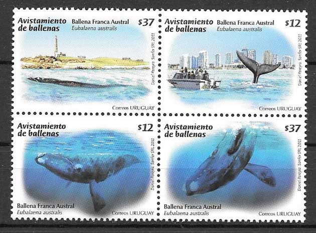 Filatelia sellos fauna marina - cetáceos 2011