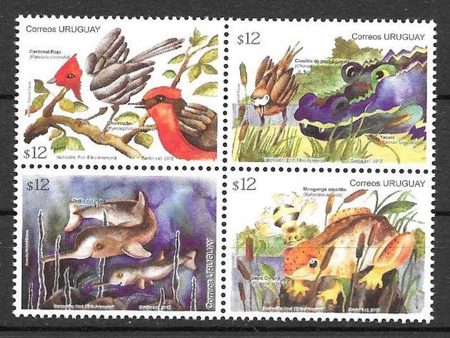 Filatelia sellos diversidad de la fauna 2012