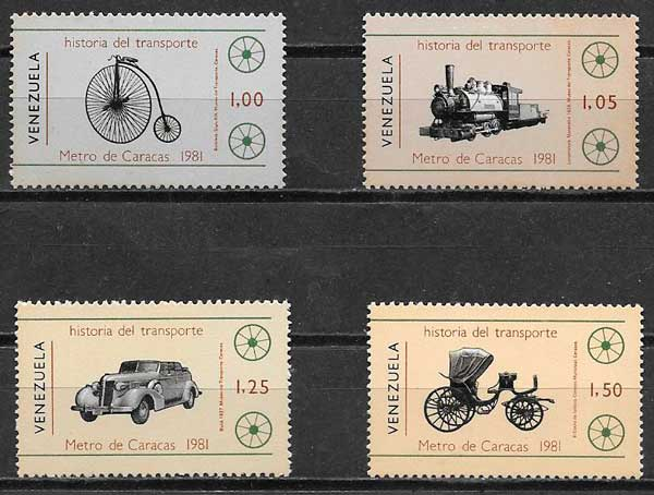 colección sellos transporte Venezuela 1981