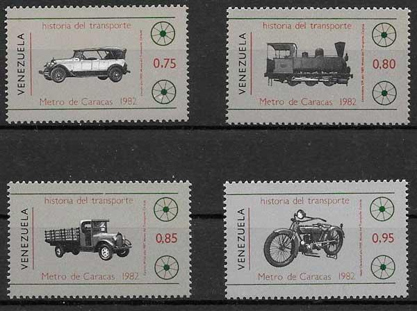 sellos transporte Venezuela 1983