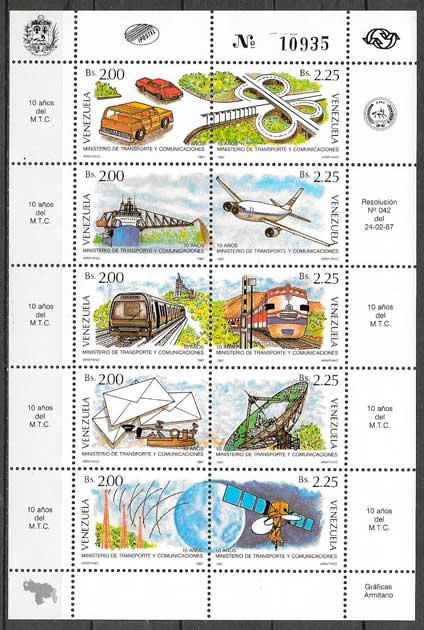 filatelia transporte Venezuela 1987