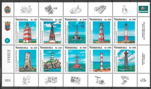 sellos faros Venezuela 2002