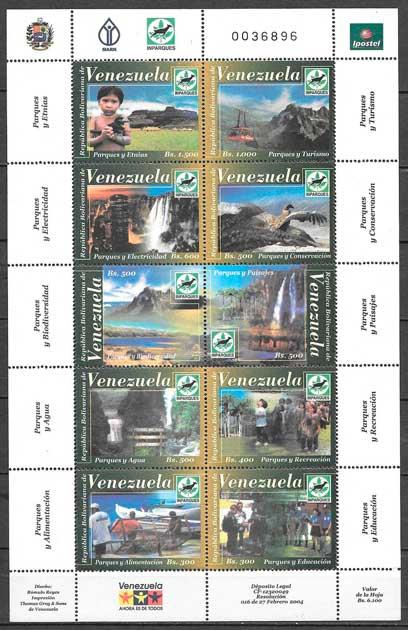 filatelia parques naturales Venezuela 2004