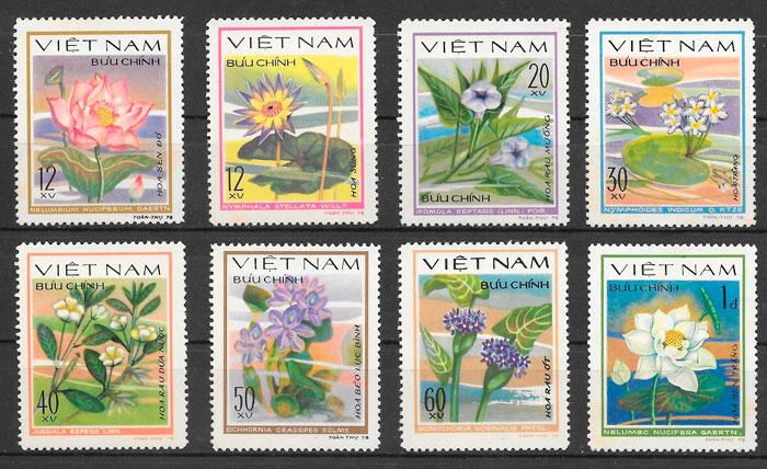 filatelia flora Viet Nam 1980