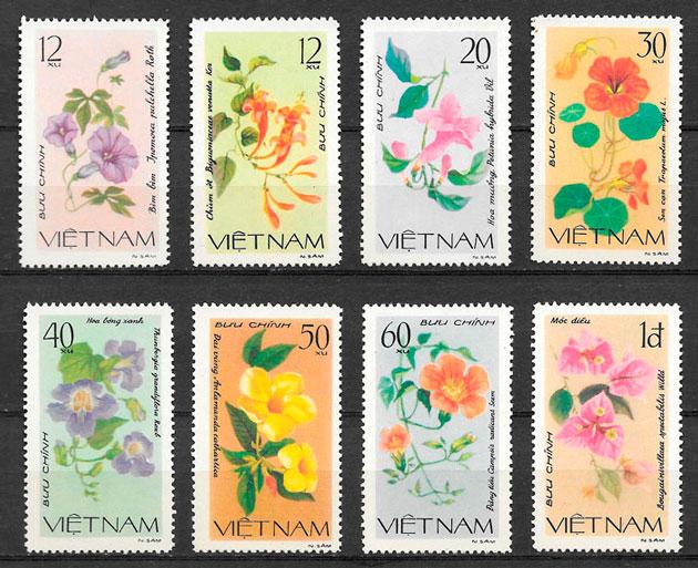 filatelia colección flora Viet Nam 1980