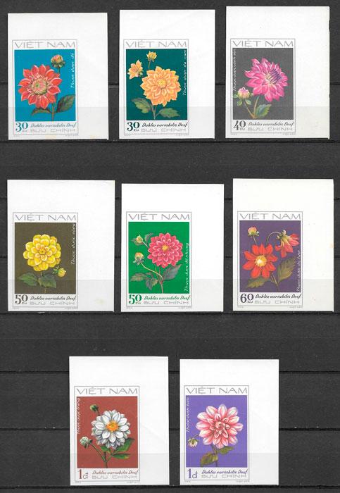 filatelia flora Viet Nam 1982