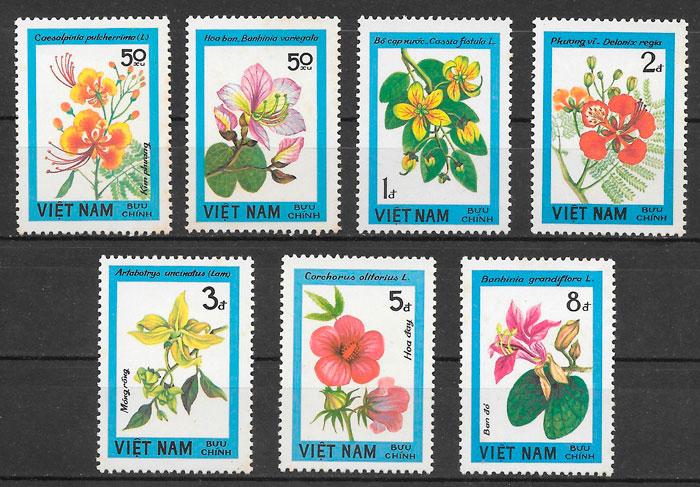 filatelia colección flora Viet Nam 1984