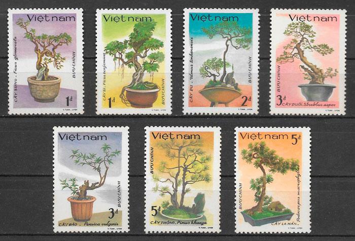 sellos flora Viet Nam 1986