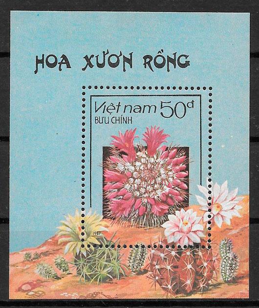filatelia flora Viet Nam 1987