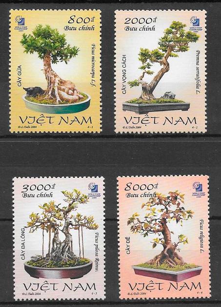 sellos flora Viet Nam 2004