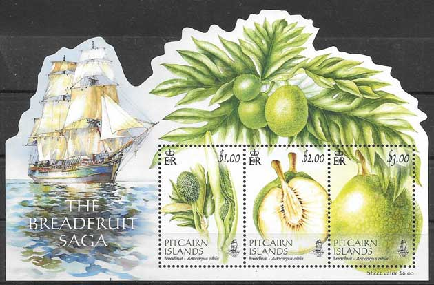 sellos flora Pitcair 2016