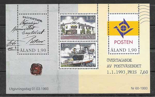 Sellos transporte postal Aland 1993