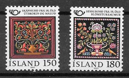sellos arte Islandia 1980