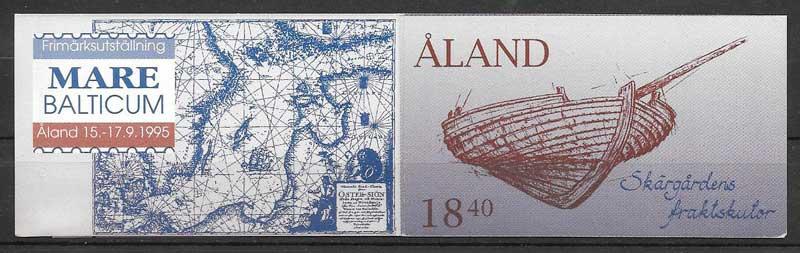 filatelia colección transporte Aland 1995