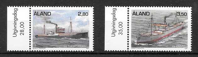 colección sellos transporte Aland 1997
