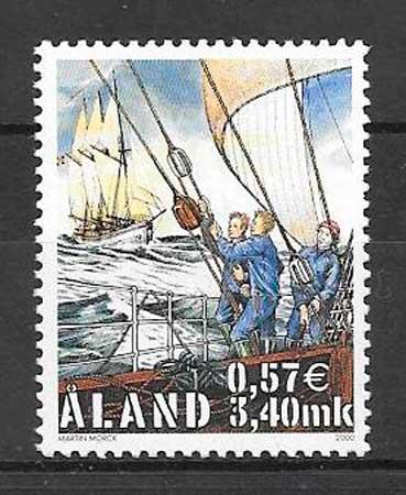 filatelia transporte Aland 2000