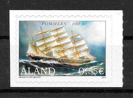 filatelia colección transporte Aland 2003