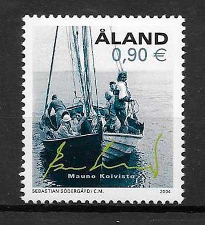 colección sellos transporte Aland 2004