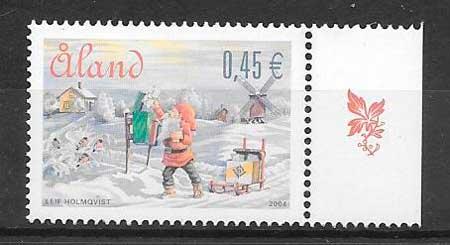 sellos navidad Aland 2004