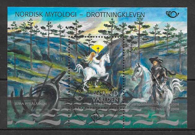 colección sellos cuentos y leyendas Aland 2008