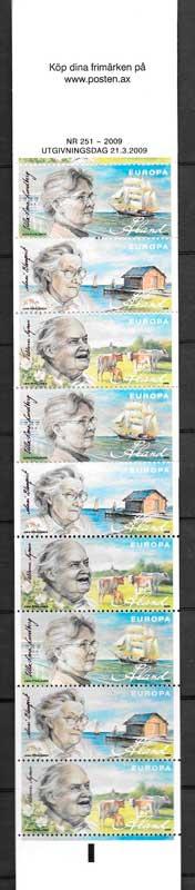 colección sellos personajes Aland 2009