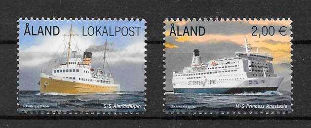 filatelia colección transporte Aland 2014