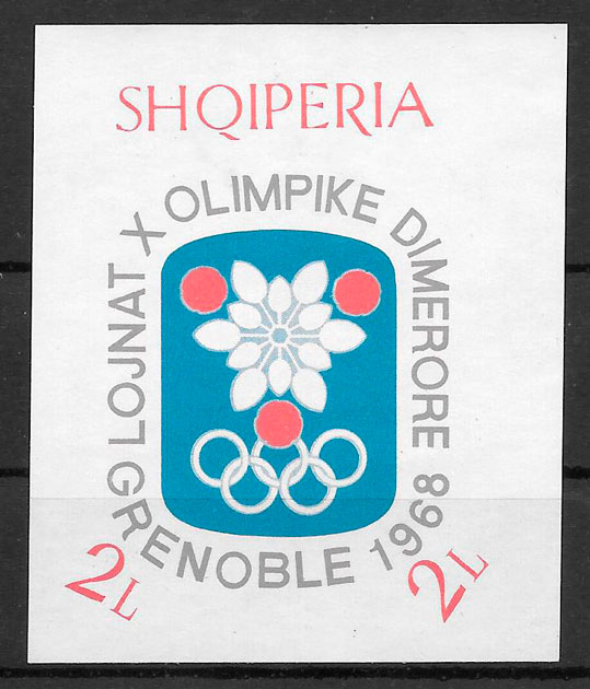 colección sellos deporte Albania 1968