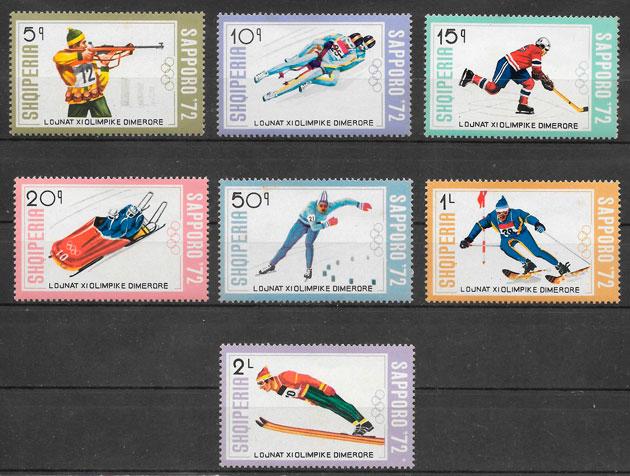 sellos deporte Albania 1972