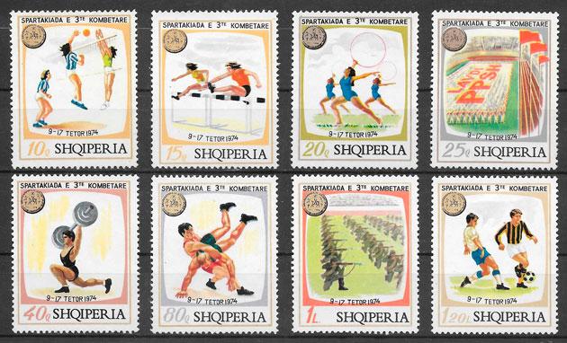 sellos deporte Albania 1974