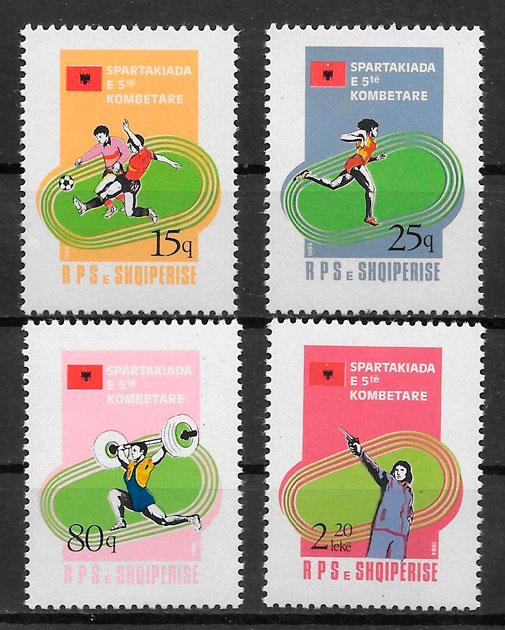 filatelia colección deporte Albania 1984