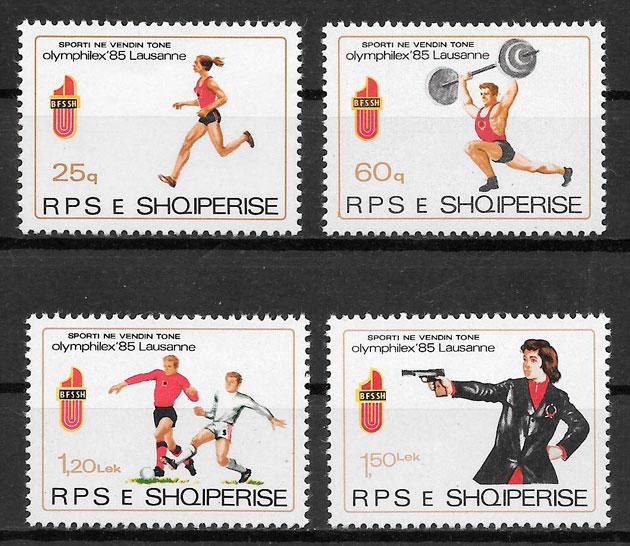 colección sellos deporte Albania 1985