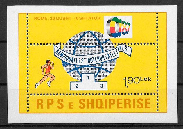 colección sellos deporte Albania 1986