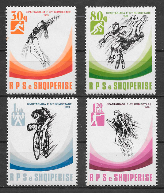 sellos deporte Albania 1989