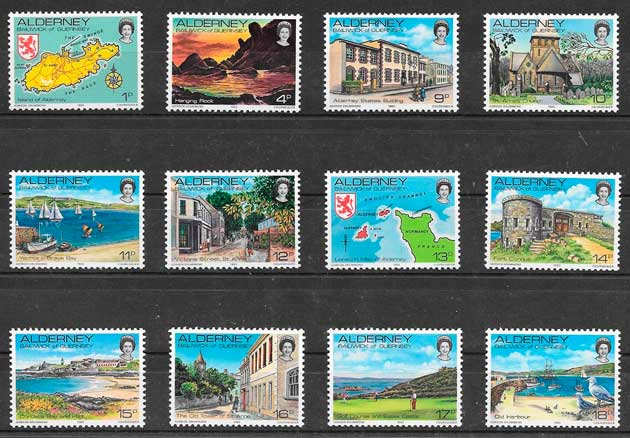 sellos turismo Alderney 1983