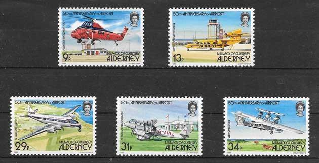 transporte aéreo Alderney