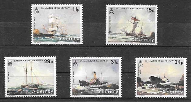Sellos Filatelia transporte marítimo 1987