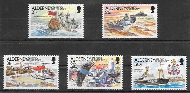 Selos Filatelia transporte marítimo