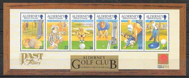 sellos deporte Alderney 2001