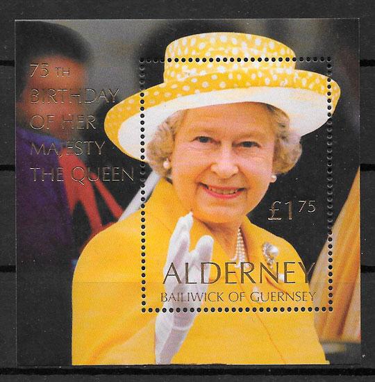 sellos personalidades Alderney 2000