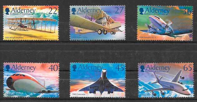 sellos transporte Alderney 2003