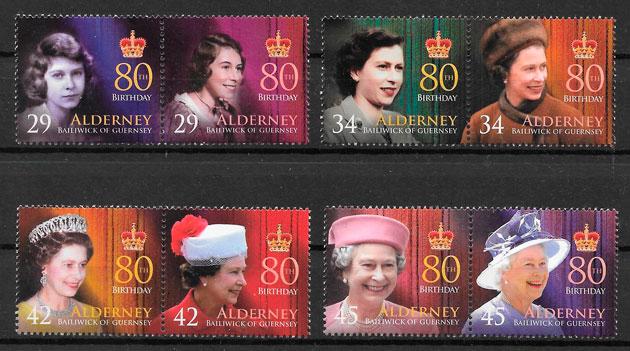 sellos personalidad Alderney 2006